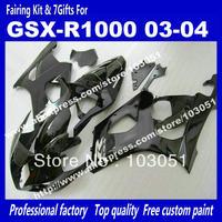 Customize body work fairings for SUZUKI GSX-R 1000 03 04 GSXR1000 GSX R1000 2003 2004 all glossy black fairing set ai36 +7 gifts
