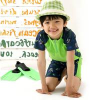 Swimwear 2013 male child boy baby split swimwear swimming trunks short-sleeve child swimwear