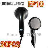 Free Shipping 20pcs/lot meizu EP10 in-ear earphone for mp3 mp4 high resolution sound high quality Mini HD headphones headset