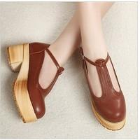 Preppy style vivi vintage round toe doll single shoes t-shoes platform women's shoes  -01