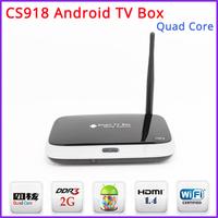 Free Shipping - CS918 Quad Core Android 4.2 TV Box Mini PC RK3188 2GB DDR3+8GB WiFi 1080P DLNA Miracast  with Remote