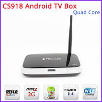 Free Shipping - New CS918 Quad Core Android 4.2 TV Box Mini PC RK3188 2GB DDR3+8GB WiFi 1080P DLNA Miracast  with Remote