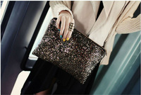 The new 2013 dinner makeup bag  sequins handbags hello Kitty bag woman famous brand Louis anime issey miyake leather messenger