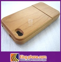 New Design Red Maple Wooden Case For iPhone 4/4s  , 100% Natural Wood Material