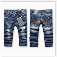 Free shipping Baby Jeans 6pcs/lot Girl's No Fur New Style Pant for kids Trousers 90-140cm Children Pants