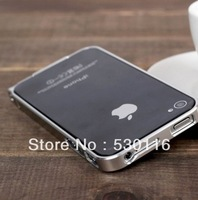 Luxury Ultra-thin 0.7mm Aluminum Metal Alloy Bumper Frame Case for iPhone 4/4s,10 Color drop shipping/free shipping