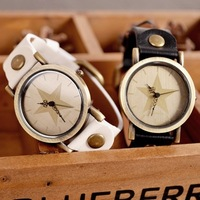 Trend personality vintage 2013 five-pointed star watches fashion male women's student table lovers watch
