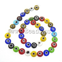 Free shipping!!!Handmade Lampwork Beads,jewelry lot, Flat Round, 8x8x3.50mm, Length:15.5 Inch, 10Strands/Lot, Sold By Lot