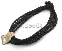Free shipping!!!Fashion Necklace Cord,Fashion Jewelry Graceful, Nylon Cord, black, 7mm, Length:20 Inch, 10Strands/Lot