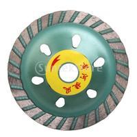 Free Shipping Segmented Swirl Diamond Grinding Cup Wheel - Green