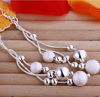 LOSE MONEY ITEM Long Silver 925 E006 earrings silver plated Bead/ball/pearl drop earrrings For woman Fashion Dangle earrings