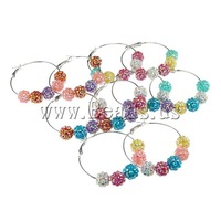Free shipping!!!Resin Earring,2013 Fashion, Resin Rhinestone, iron clip, mixed colors, 10x12mm, 20Pairs/Bag, Sold By Bag