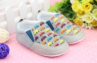 Hot Sale New Style Baby Cotton Shoes Fashionable Cartoon Car Pattern Shoes Toddles Shoes High Quality Free Shipping 12 pca/lot