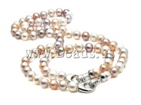 Free shipping!!!Natural Cultured Freshwater Pearl Jewelry Sets,New, Round, mixed colors, High Replica, 8-9mm, Length:21.5 Inch