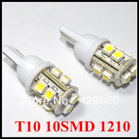 Free Shipping T10 10SMD 1210 Car LED Light Automobile Bulbs Lamp Wedge Interior Light Lamp 12V LED door