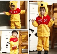 Exclusive children's clothing wholesale: lovely Tong Xiaoxiong and other set of cartoon animal suit for children