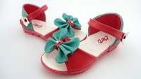 Hot Sale New Arrival Children Casual Shoes with  Flower and Bowknot Soft  to Wear Beautiful Princess 10 pcs/lot