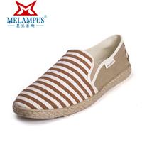 Men pedal canvas shoes stripe shoes light breathable casual shoes 2013 shoes