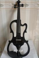Exquisite handmade black electric violin band flash powder electric violin