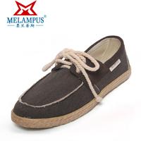 Men bandage pedal canvas shoes single shoes casual linen 2013 light