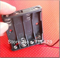 [Entity Store]  Free Shipping 6V 4xAAA Battery Storage Box 3A aaa Battery Holder Cell Box With Lead