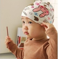 New Arrival Male baby girl child cartoon thermal autumn and winter rabbit baby pullover baby hat  Free Shipping