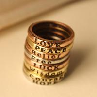 JR-01420 European and American retro minimalist retro lettering Wishing Ring Ring Ring Ring alphabet set
