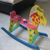 Child hobbyhorse toy colored drawing rollaround horse powder flower horse small car rocking chair 1 - 6
