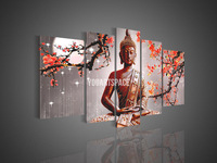 5 Panel Wall Art Religion Buddha Oil Painting On Canvas Orient Kitchen Pictures Decor Picture