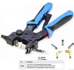 Professional compression crimping tools TL-H510B,For CrimpingF,BNC,RCA,RG 59, RG6 F type cable