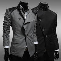 2013 spring and autumn casual suit slim small suit jacket fashion black male suit men's clothing