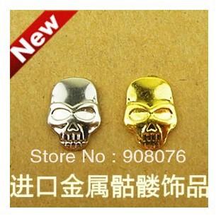 Best Selling! Skull Nail Art Punk Studs Decoration Nail Metal Jewelry 3 packs/lot+Free Shipping(China (Mainland))