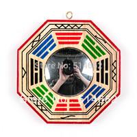 Feng Shui Convex Peach Wood Bagua Mirror Pakua 4 Inch