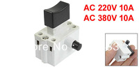 AC 220V/380V 10A DPST Lock on Manual Trigger Switch for 380 Cutting Machine