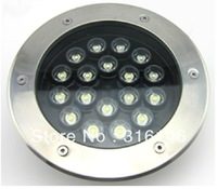 DHL free shipping 24V 18X1W 18W waterproof IP68 LED underwater light led deck light garden light LED underground light