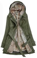 Женская одежда из шерсти Ladies Fashion Winter long winter coat patchwork winter clothes fur women coat wool blends Overcoat, WWD065