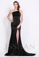 12P110  Classic Unique Strapless Slim Fitted High Split Velvet Gorgeous Luxury Unique Prom Evening Dress Fancy Dress Party