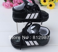 Free shipping wholesale 2013 attractive  vigorous black high top  sports shoes style BB  shoes/prewalkers/infant shoes