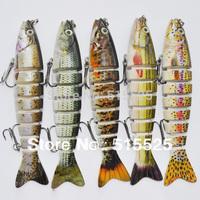 2014 hot sale 5pcs/lot Fishing Lures Swimbait Minnow Fishing Tackle  Fishing Bait Free Shipping