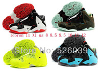 FREE Shipping 2014  cheap lebrons 11 XI shoes for sale men basketball p s elite blue red white green black yellow wholesale 8-12