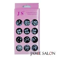 New 60pcs Pearl Heart Nail Art Mixed Shiny Flatback Beads For Nail Art DIY Decoration Free Shipping