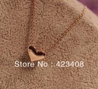Hot Sale Heart Chain Necklace Fashion Korea Jewelry for women Free shiping
