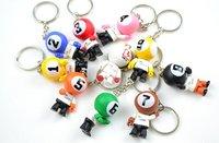 Pool lucky key chain, billard key ring , pool Christmas ornaments,billard accessories,promotional key rings