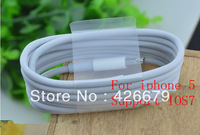 100pcs/lot, Newest IOS 7 1M 8 Pin Data Sync USB Adapter Charger Cable For iPhone 5, iPod, iPad Mini 4 Factory OEM