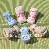 free shipping 5pairs/lot Quality baby newborn socks three-dimensional socks male spring and autumn cotton children socks