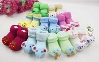 Autumn and winter loop pile socks newborn socks three-dimensional style socks baby socks baby socks shoe socks floor socks