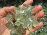 100g Lot Of Natural Green Fluorite Crystal Octahedrons Rock Specimen China R177.100
