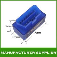 Hot sale! 2014 bluetooth obd2 scanner super mini elm327 bluetooth obd ii elm327 free shipping