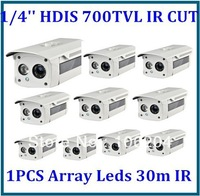 Bullet camera waterproof CMOS 700TVL With IR CUT CCTV Array IR Leds external install system