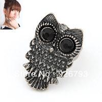 Wholesale 12pcs/lot Fashion Retro Owl Rings